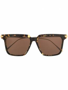 Bottega Veneta Eyewear солнцезащитные очки BV1006S в оправе черепаховой расцветки