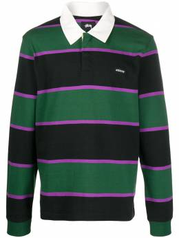 Stussy - long sleeved striped polo shirt 69509569060500000000