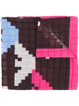 Emporio Armani - шарф с пиксельным логотипом 0859A300955350980000
