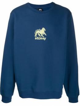 Stussy - толстовка с вышитым логотипом 356FELPANAVY95530333