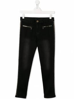 Twin-Set Kids декорированные джинсы с заклепками 192GJ2380