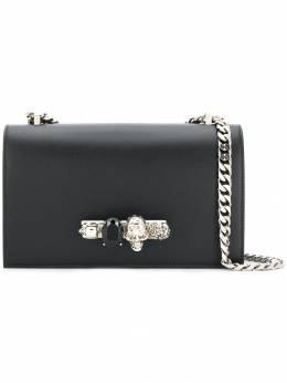 Alexander McQueen сумка через плечо с черепом и кристаллами 554128CMO0Y