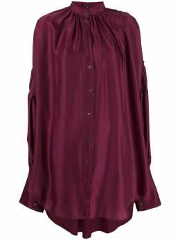 Ann Demeulemeester - блузка оверсайз с драпировкой 00696P90095369599000