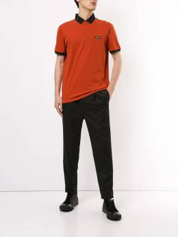 Emporio Armani - logo patch colour block polo shirt FA59J56Z950656550000