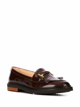 Tod's - fringed flap loafers 36B6BV56SHAS06695538