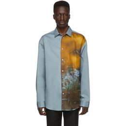 Oamc Blue Courtney Shirt 192637M19200403GB