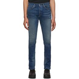 Rhude Blue Snap Jeans 192923M18600306GB