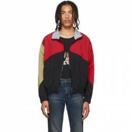 Rhude Red and Black Flight Jacket 192923M18000603GB