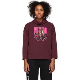 Kenzo Burgundy Logo Tiger Mountain Sweatshirt F962SW6094X5