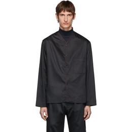 Lemaire Navy Sunspel Edition V-Neck Shirt 192646M19201202GB
