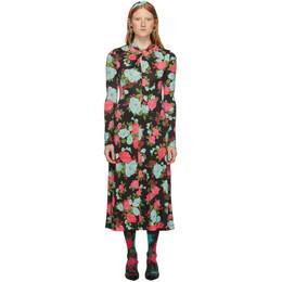 Erdem Black and Pink Nolene Dress 192641F05400503GB