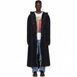 Raf Simons Navy Mother On Phone Long Parka 192287M17601202GB
