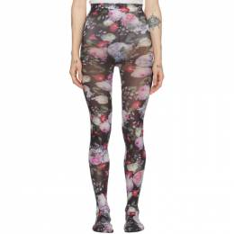 Erdem Black and Multicolor Printed Tights PF19_1155CDN