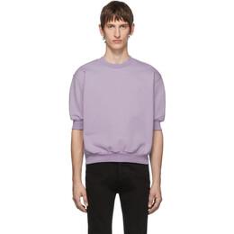 Random Identities Purple Fleece Short Sleeve Sweatshirt 192172M20403001GB