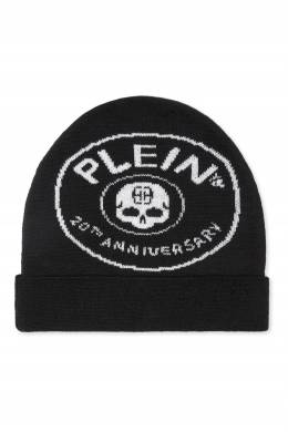 Черная шапка с круглой эмблемой Philipp Plein Kids 2714159327