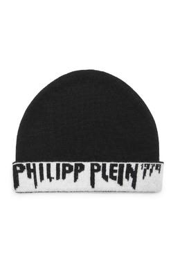Черная шапка с логотипом Philipp Plein Kids 2714159325