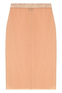 Полупрозрачная юбка бежевого цвета Invisible Le Journal Intime 2570159878