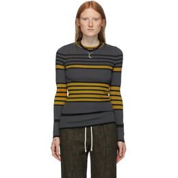 M Missoni Multicolor Oversized Striped Crewneck Sweater 2DN00141 2K003O