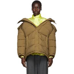 Balenciaga Brown Swing Puffer Jacket 555346-TGO12