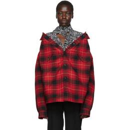 Balenciaga Red Canadian Swing Jacket 583874-TGM10