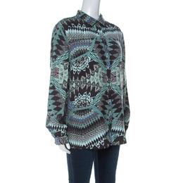 Matthew Williamson Multicolor Abstract Printed Silk Shirt M 236205