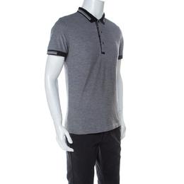 Boss by Hugo Boss Grey Cotton Paule-4 Polo Shirt L 237206