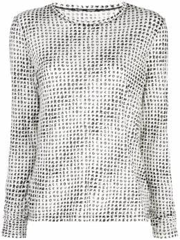 Proenza Schouler блузка с длинными рукавами и принтом R2014021JCP25
