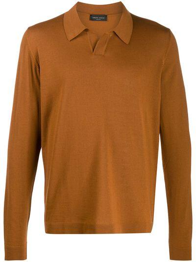 Roberto Collina рубашка-поло с длинными рукавами RB01004 - 1