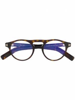 Tom Ford Eyewear очки в круглой оправе FT5628B