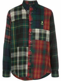 Palace клетчатая рубашка с нашивкой-логотипом 710420696001