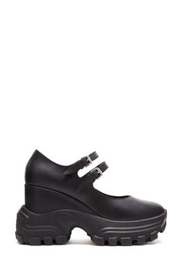 Кожаные туфли на резиновой платформе Miu Miu 375159999