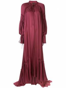 Ann Demeulemeester платье макси со сборками 19022302P122036
