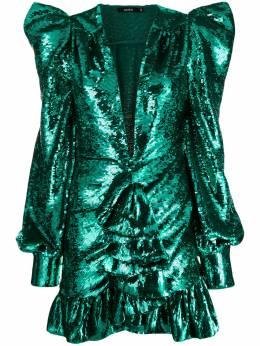 Amen коктейльное платье с вышивкой пайетками ACW19406