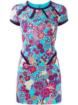 Versace Pre-Owned платье мини 2000-х годов с цветочным принтом A59685