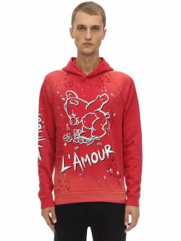 Amour Paint And Holes Cotton Hoodie Domrebel 70IWO8022-UkVE0