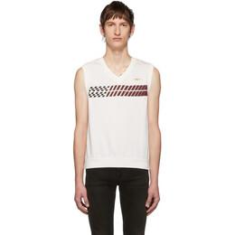 Phipps White Stripe Sleeveless T-Shirt PHFW19-N07-A