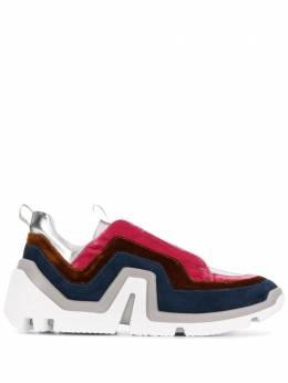 Pierre Hardy кроссовки в стиле колор-блок RS02CALFMTVELVETSUEDE