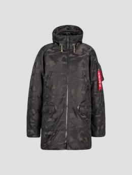 Куртка пуховая мужская Alpha Industries модель MJN48503C1_black_camo 1869117