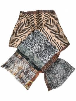 Pierre-louis Mascia стеганый шарф с анималистичным принтом 47470151067