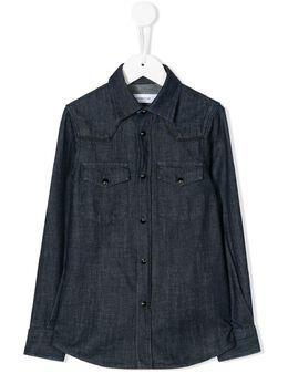 Dondup Kids джинсовая рубашка узкого кроя BC072PDF0231B011