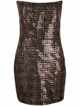 Michelle Mason платье мини с без бретелей пайетками M9246
