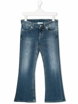 Dondup Kids расклешенные джинсы с эффектом потертости YP272DS0112GZ31