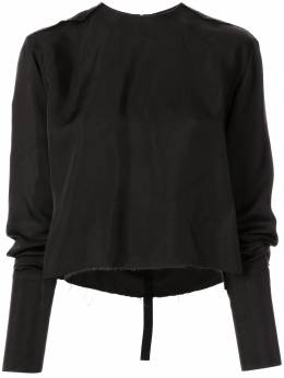 Yang Li блузка с длинными рукавами и эффектом потертости HF218199