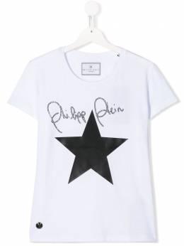 Philipp Plein Junior TEEN star print T-shirt A19CGTK0440