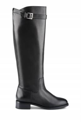 Черные кожаные сапоги с ремешком на голенище Portal 2659160553