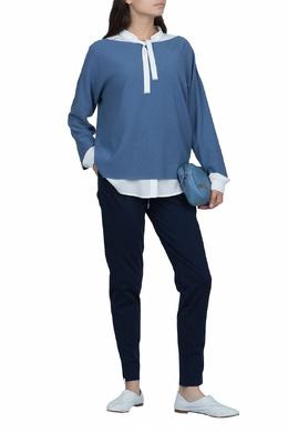 Свободный синий джемпер Fabiana Filippi 2658160485