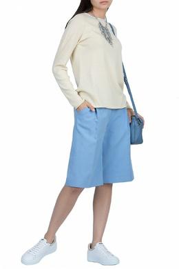 Трикотажный свитер цвета экрю Fabiana Filippi 2658160482
