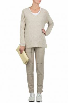 Серый вязаный свитер Fabiana Filippi 2658160401