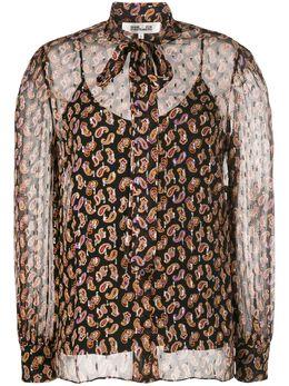 Dvf Diane Von Furstenberg блузка Lanie с принтом пейсли 13451DVF