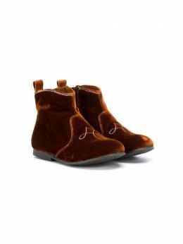 Pepe Kids бархатные ботинки 1204